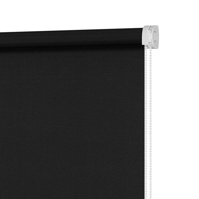Штора миниролл Плайн Черный графит 70x160