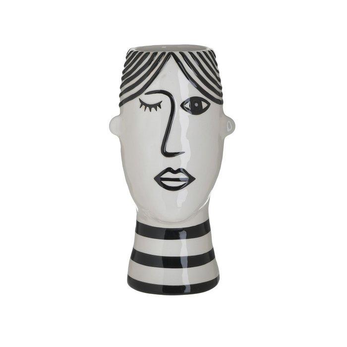 Ваза Face черно-белого цвета