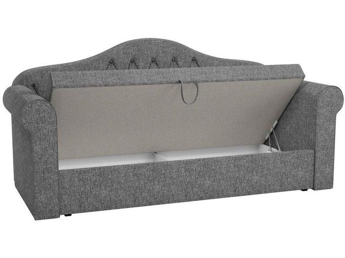 Детская кровать-тахта Делюкс 78х160 серого цвета