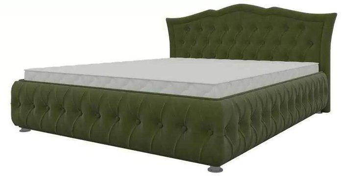 Кровать Герда 140х200 зеленого цвета с подъемным механизмом