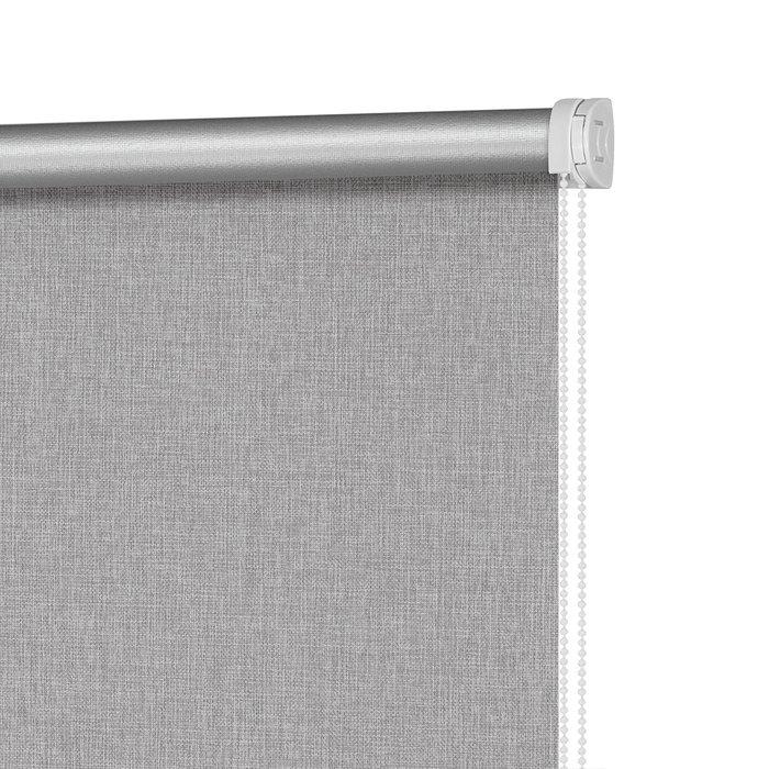 Рулонная штора Блэкаут Фелиса серого цвета 160x175