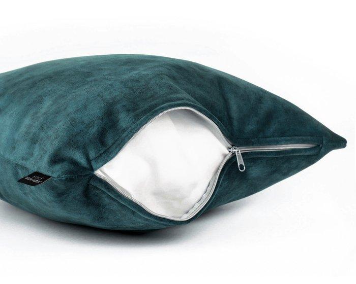 Декоративная подушка Goya teal синего цвета