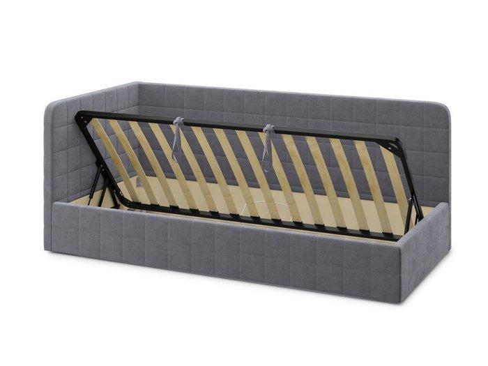 Кровать с подъемным механизмом Tichina left 120х200 серого цвета