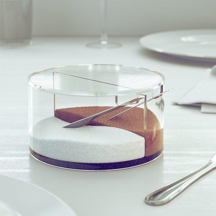 Сахарница с ложкой Basics из стекла