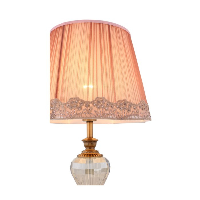 Настольная лампа Assenza с розовым абажуром