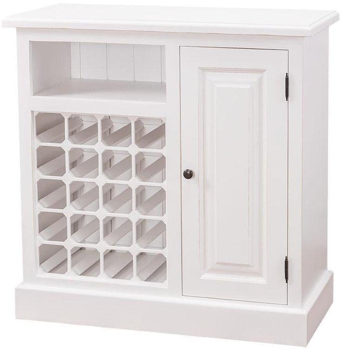 Винный шкаф однодверный Брюгге белого цвета