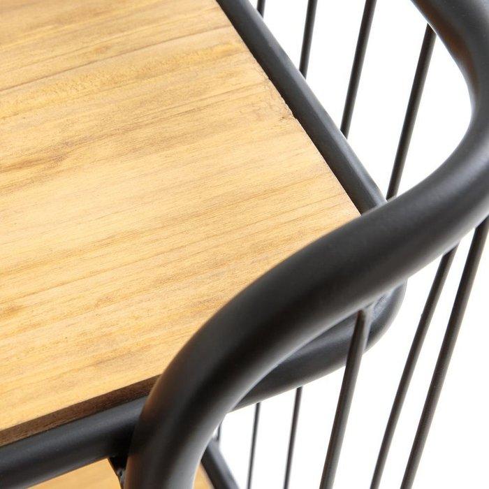 Сервировочный столик на колесиках Hiba из сосны и металла