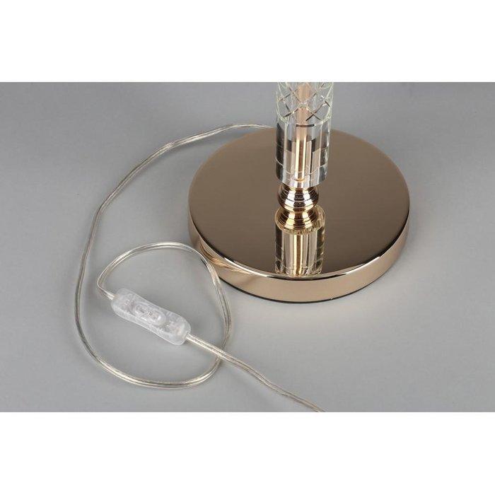 Настольная лампа Silvian с белым абажуром