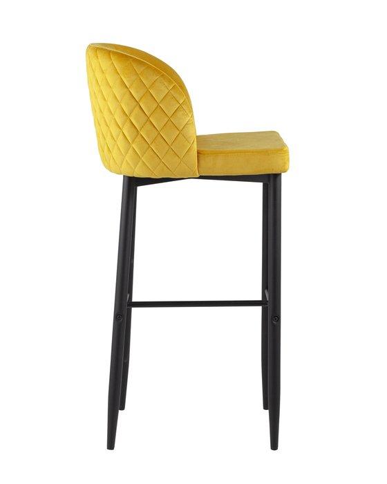 Барный стул Оскар вельвет оранжевый