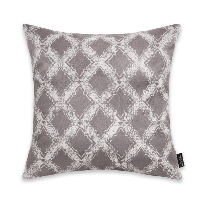 Декоративная подушка Grate 45х45 серого цвета