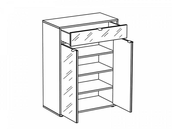 Комод Latte с ящиком и дверцами