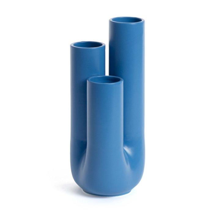 Ваза керамическая Arantya синего цвета