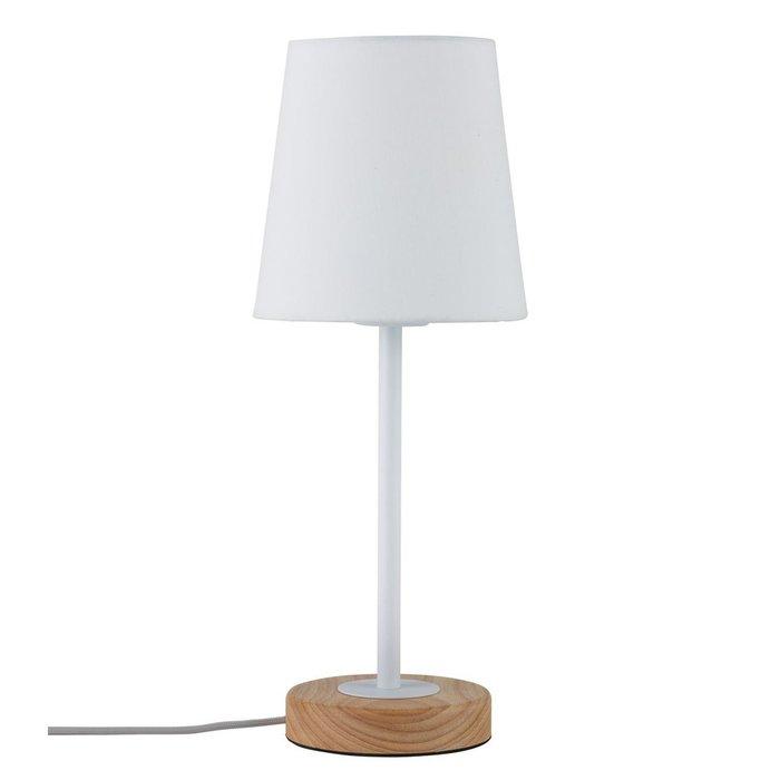 Настольная лампа Paulmann Stellan с белым абажуром