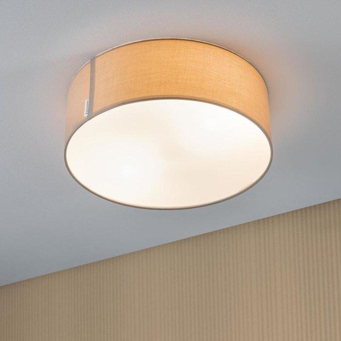 Потолочный светильник Mari с бежевым абажуром