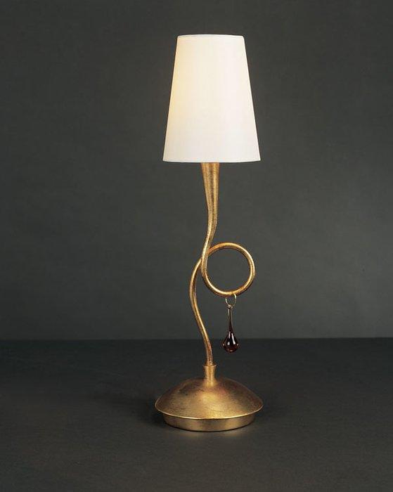 """Настольная лампа Mantra """"Paola Painted Gold"""""""