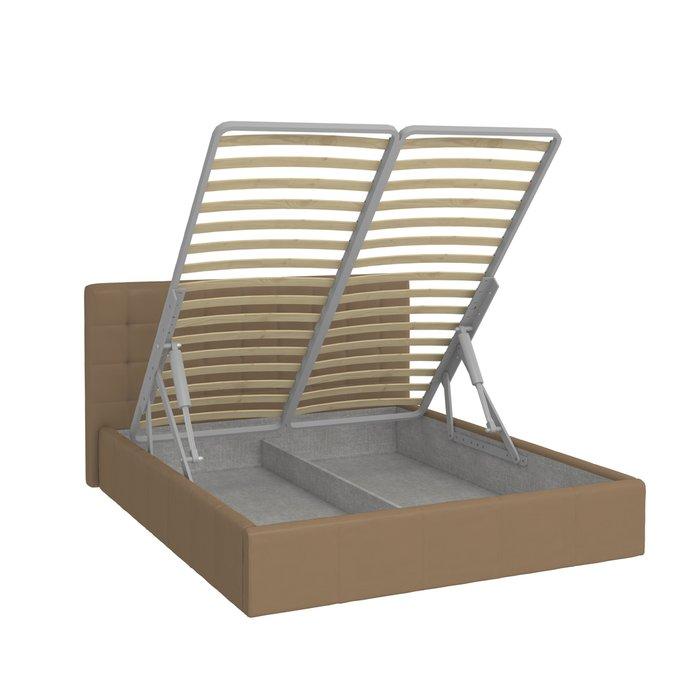 Кровать Инуа 120х200 коричневого цвета с подъемным механизмом