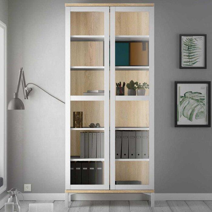 Шкаф-витрина Roomers белого цвета