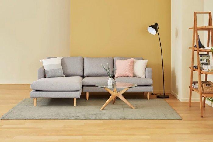 Угловой модульный диван серого цвета