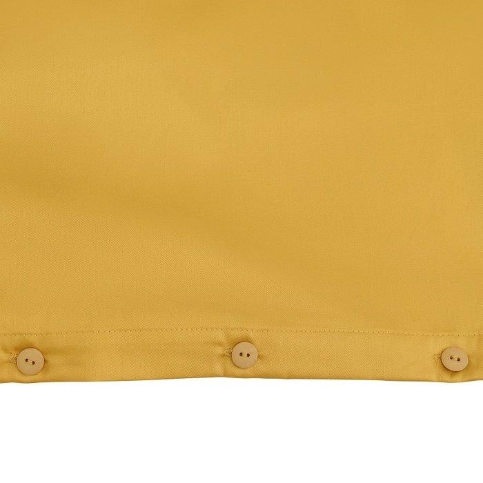Комплект постельного белья из сатина горчичного цвета 100х120 см