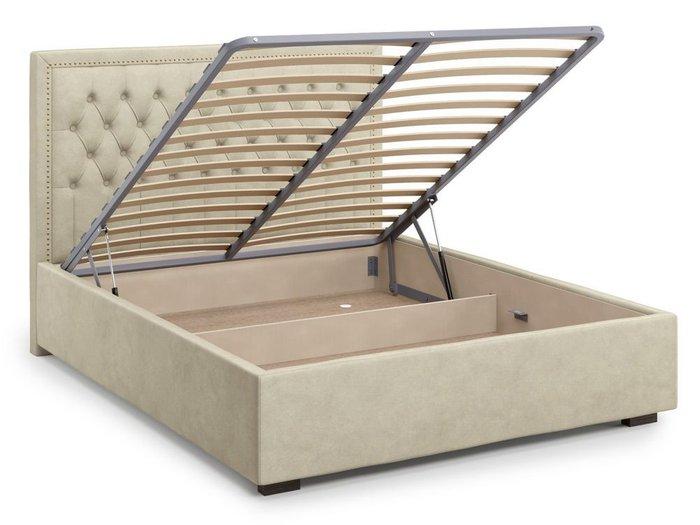 Кровать с подъемным механизмом Orto 160х200 бежевого цвета