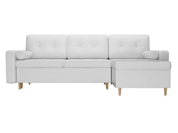 Угловой диван-кровать Белфаст белого цвета (экокожа)