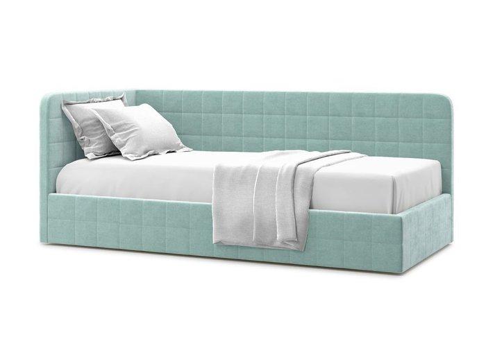 Кровать с подъемным механизмом Tichina left 120х200 мятного цвета
