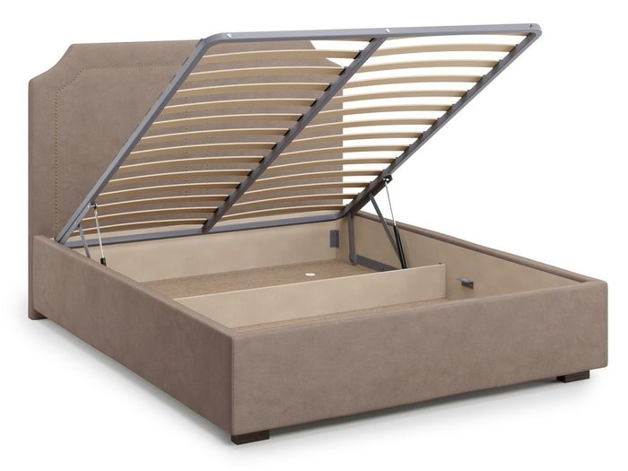 Кровать с подъемным механизмом Lago 180х200 темно-бежевого цвета