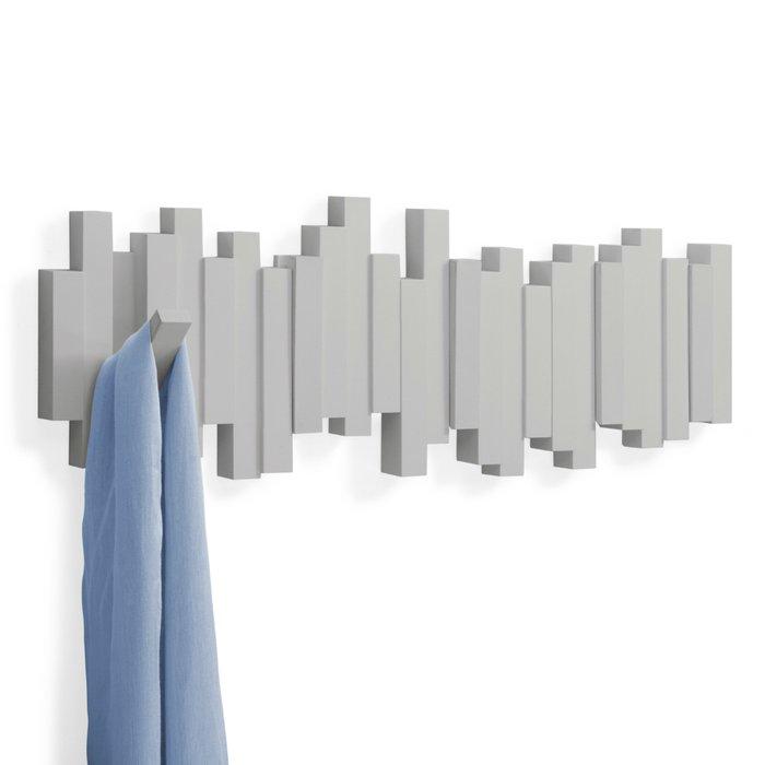 Вешалка настенная Umbra sticks серая