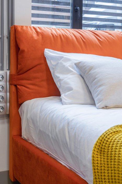Кровать Trazimeno 160х200 коричневого цвета с подъемным механизмом