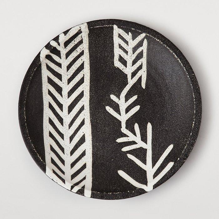Тарелка декоративная Siberia с белым принтом