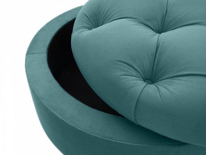 Пуф Meggi сине-зеленого цвета
