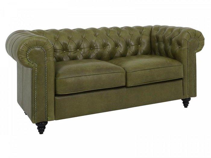 Диван Chester Classic зеленого цвета