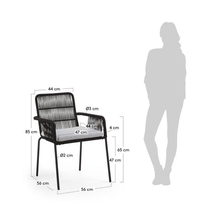 Кресло Samt черного цвета