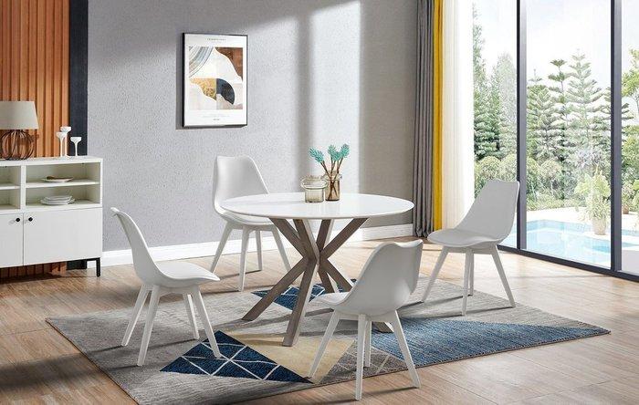 Стол обеденный Bianca белого цвета