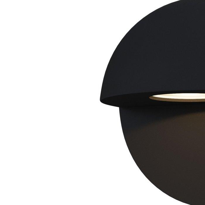 Уличный настенный светильник Mezzo черного цвета