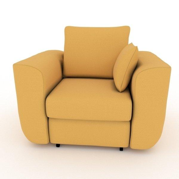 Кресло-кровать Stamford желтого цвета
