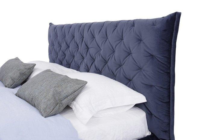 Кровать Club 160х200 темно-синего цвета
