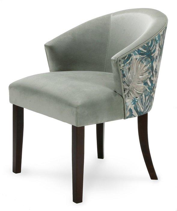 Стул-кресло мягкий Adonis сине-серого цвета