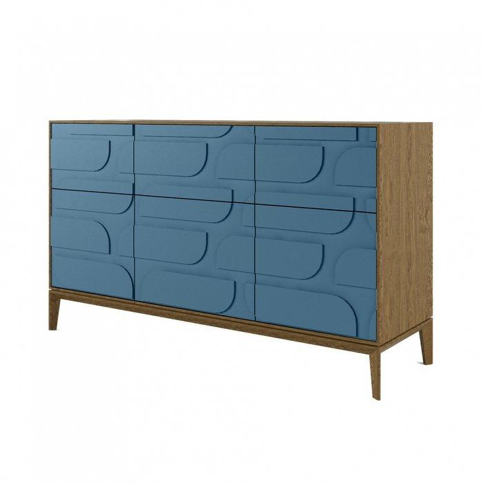 Комод The One с шестью ящиками Ellipse синего цвета