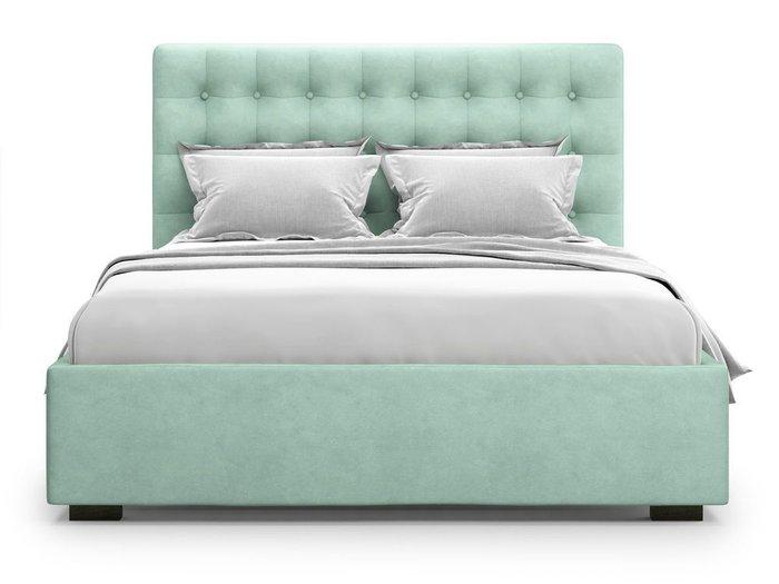 Кровать с подъемным механизмом Brayers 180х200 мятного цвета