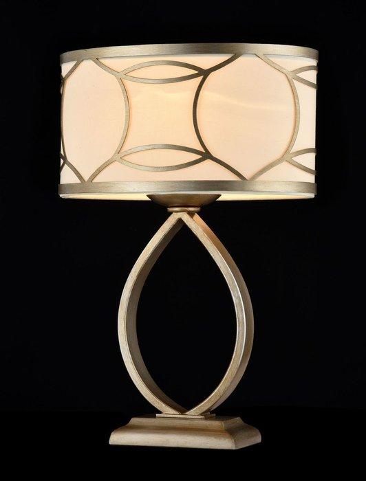 Настольная лампа Fibi с кремовым абажуром