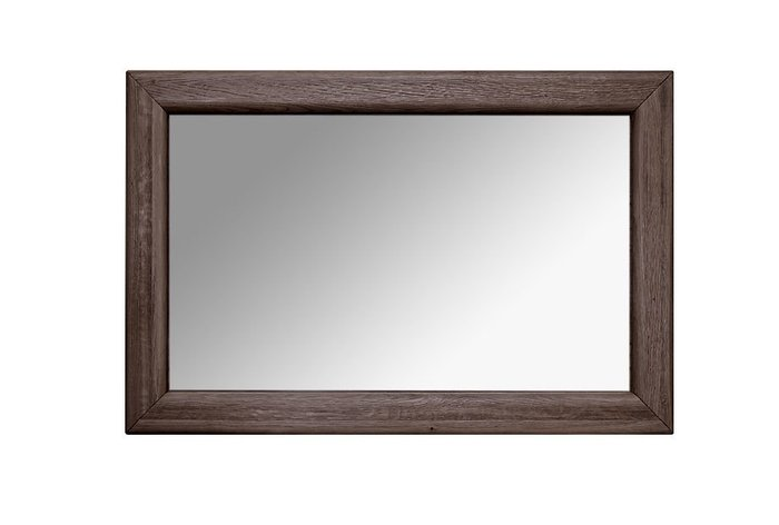Зеркало настенное Хедмарк темно-коричневого цвета