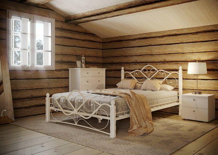Кровать Венера 140х200 белого цвета