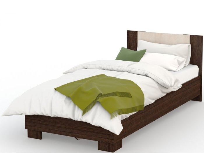 Кровать Аврора 120х200 темно-коричневого цвета