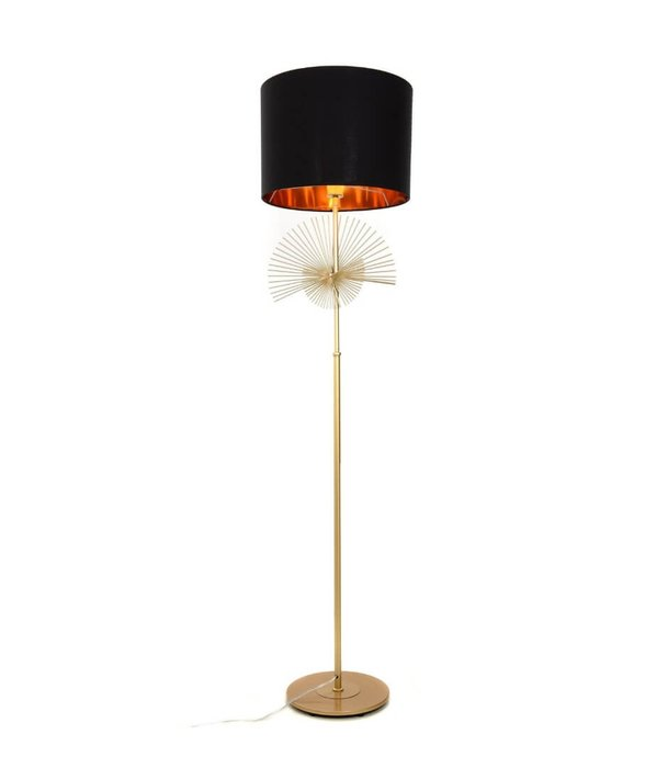 Торшер Fonti черно-золотого цвета