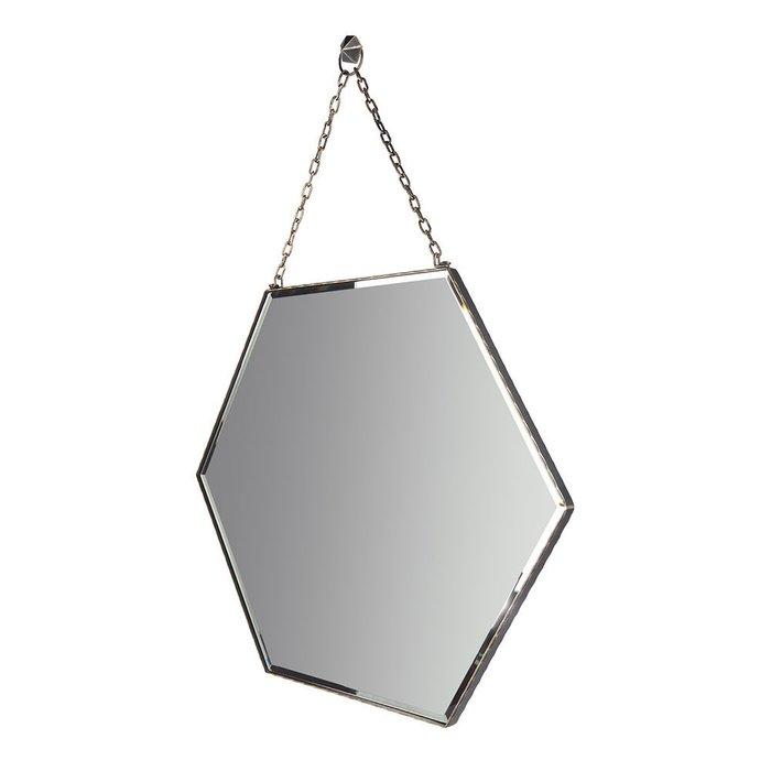 Зеркало настенное Шестиугольник в черной раме