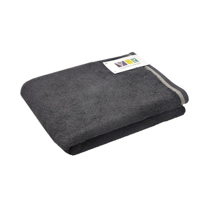 Полотенце из хлопка темно-серого цвета 50х100