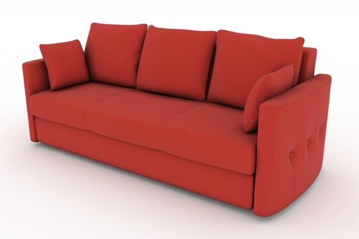 Прямой диван-кровать Луна красного цвета