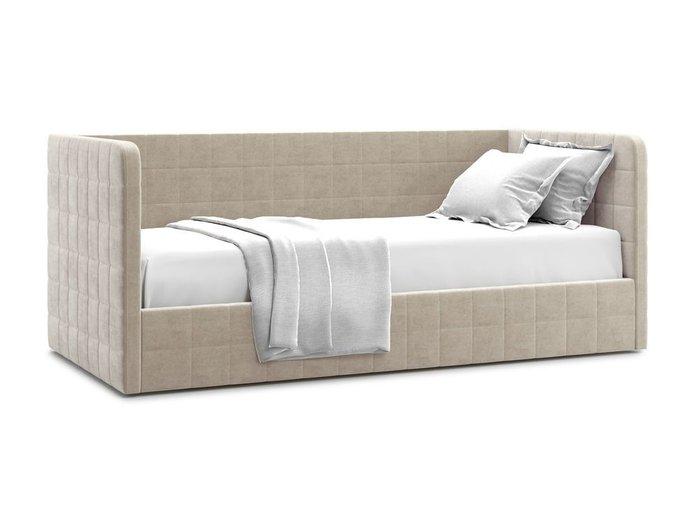 Кровать с подъемным механизмом Brenta 120х200 бежевого цвета