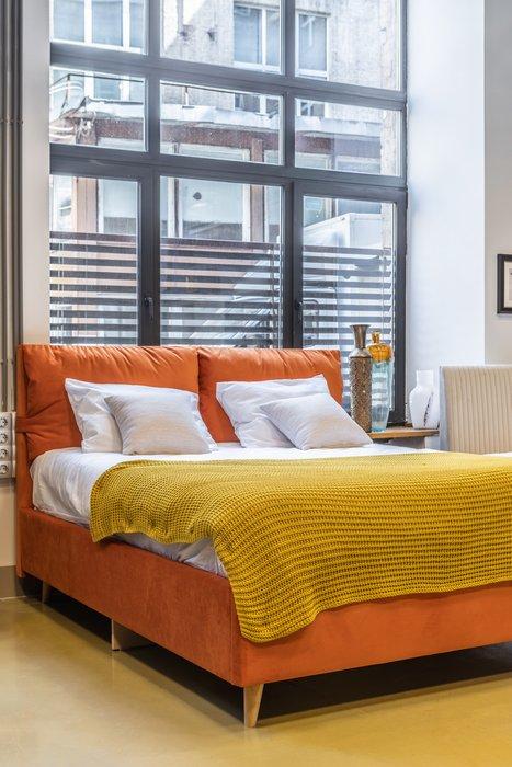 Кровать Trazimeno 160х200 фиолетового цвета